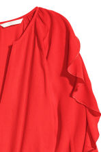 Playsuit with balloon sleeves - Red -  | H&M 3